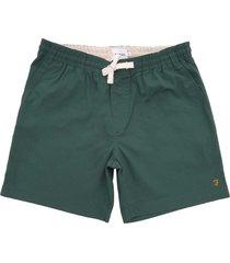 farah the val stretch twill shorts lawn green f4hm8014-352