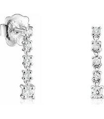 aretes cortos riviere de oro blanco con diamantes 918523070