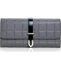billetera mujeres- cartera de embrague de la tendencia-gris