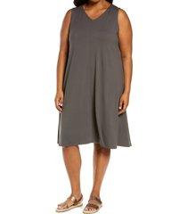 plus size women's eileen fisher v-neck a-line dress