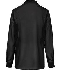 blouse van just white zwart