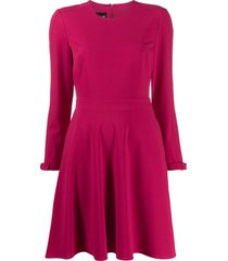 boutique moschino crepe swing dress - pink