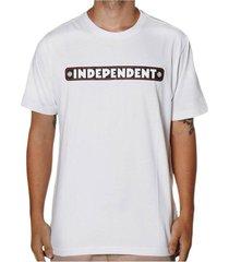 camiseta independent bar logo iii branca tamanho:g incolor - branco/incolor - dafiti