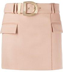 balmain short belted skirt - neutrals
