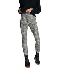 rag & bone simone check pants - black white - size 12