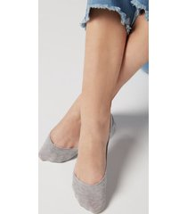 calzedonia invisible low cut socks woman grey size 40-41