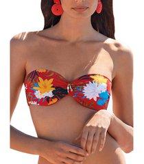 bikini selmark flores red mare bandeau swimsuit top