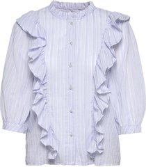 hanni shirt overhemd met lange mouwen blauw lollys laundry