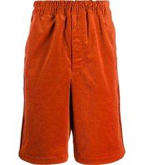 comme des garçons shirt elasticated bermuda shorts - orange