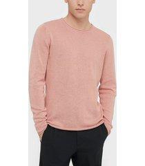 premium by jack & jones jprblalinen knit crew neck sts tröjor rosa