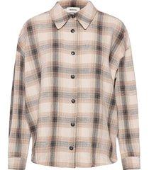 fred shirt overhemd met lange mouwen crème modström