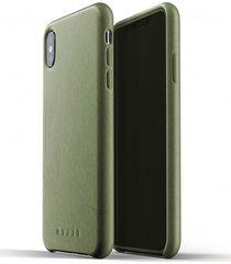 etui full leather iphone xs max olive