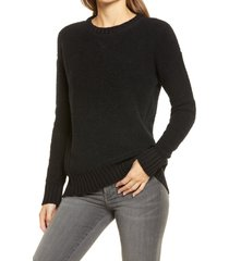 women's calson cozy pullover sweater, size x-large - black