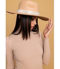 akira rhinestone lovers wide brim hat