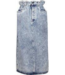 miu miu blue denim skirt