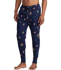 polo ralph lauren men's all-over pony player pajama joggers