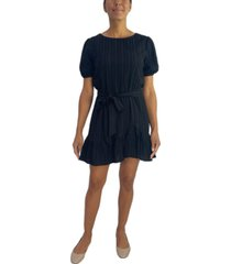 city studios juniors' fit & flare crinkle dress