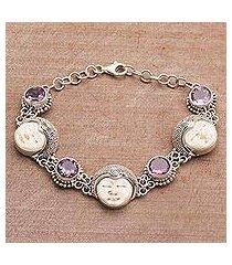 amethyst link bracelet, 'bond of princehood' (indonesia)