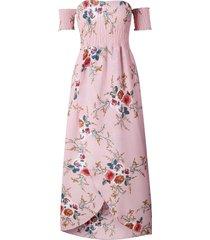 vestido casual generico playa estampada de gasa - rosa