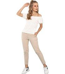 pantalon melbourne beige ragged pf51310072