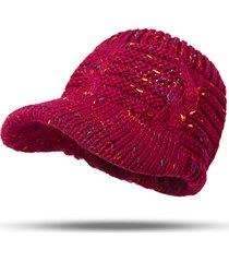 donna warm wool soft twist headband knit ponytail cap vuoto top color point copricapo hat