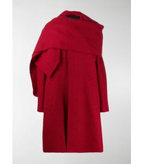 balenciaga cristobal scarf houndstooth coat