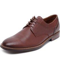 zapato casual cuero oxford marrón cardinale