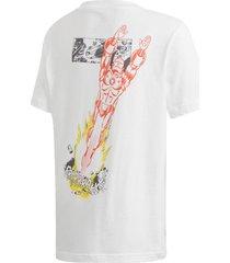camiseta adidas marvel iron man branco - branco - menino - dafiti