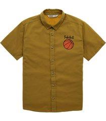 camisa manga corta amarillo  offcorss