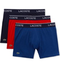 lacoste men's 3-pk. stretch boxer briefs