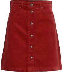 a line skirt kort kjol röd lee jeans