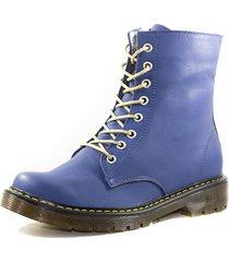 botas cuero azul m&m 3110a