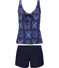 tankini (set 2 pezzi) (blu) - bpc bonprix collection