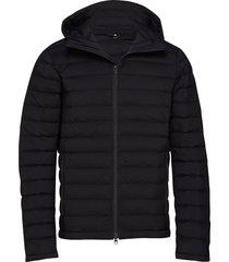 m ease hooded liner-jl down fodrad jacka svart j. lindeberg ski