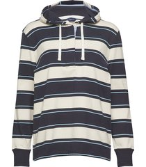 d1. hooded heavy rugger hoodie trui blauw gant