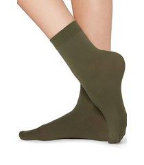 calzedonia 50 denier soft touch socks woman green size tu