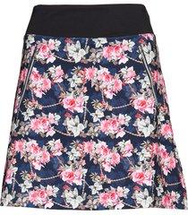 rosie skort 45 cm knälång kjol blå daily sports