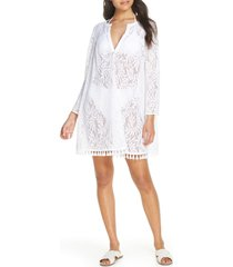 women's lilly pulitzer kizzy lace cover-up tunic