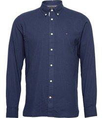 cotton cashmere shirt skjorta casual blå tommy hilfiger
