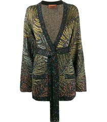 missoni v-neck sequin-embellished cardigan - black