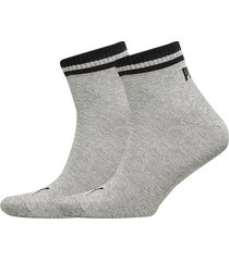 puma heritage quarter 2p underwear socks regular socks grå puma