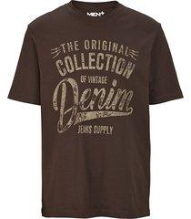 t-shirt men plus mörkbrun