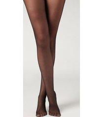 calzedonia 20 denier sheer matte tights woman black size 4