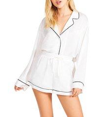 women's bb dakota by steve madden night out jacquard lounge shorts, size x-small - white