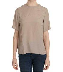 crew neck short sleeve blouse