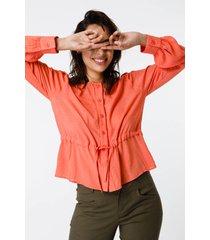 camisa coral sans doute hukon
