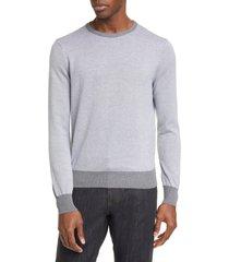 men's canali classic fit dot pattern cotton crewneck sweater