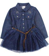 vestido just denim azul ficcus