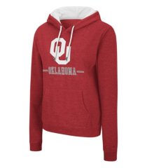colosseum oklahoma sooners women's genius hooded sweatshirt
