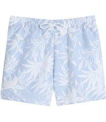pantaloneta playa flores color azul, talla l